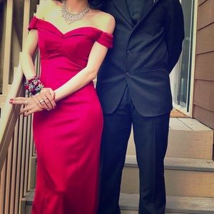 Colette for Mon Cheri Red Prom dress